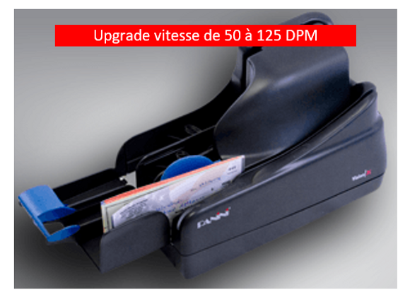 Upgrade vitesse de 50 à 125 DPM