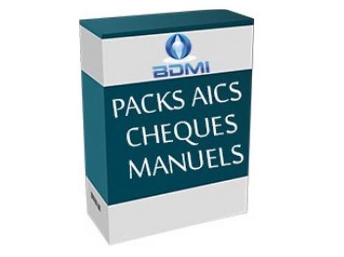 Impression de chèques manuels AICS