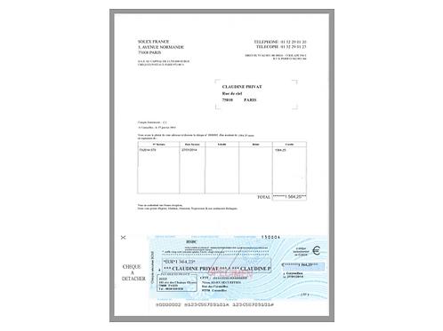 1000 Lettres-chèques standard fond sécurisé