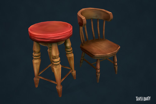 Old Pub Chairs