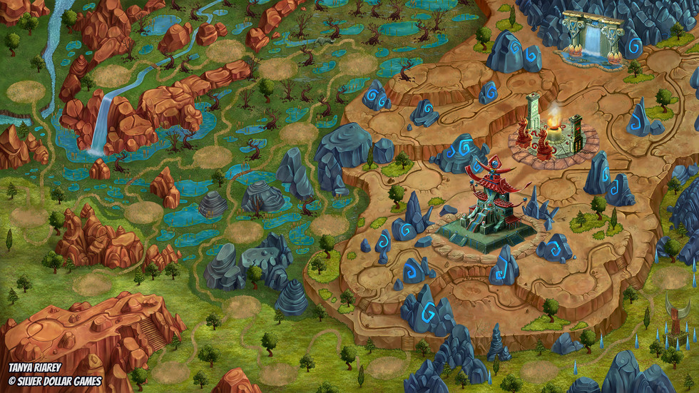 2D Game Art - Game Map