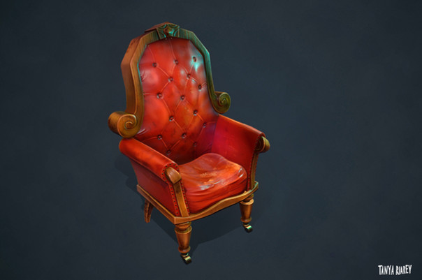 Red Victorian Chair