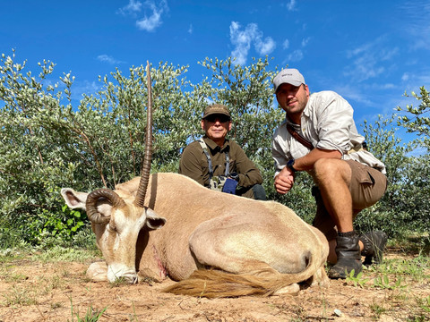 Golden Oryx hunting in Namibia with Zana Botes Safari