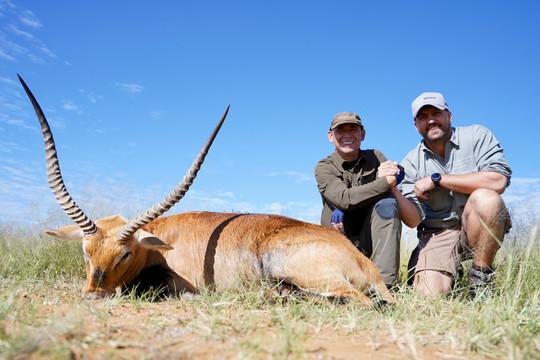 Lechwe hunting in Namibia with Zana Botes Safari