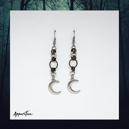 Moon Link Chainmaille Earrings