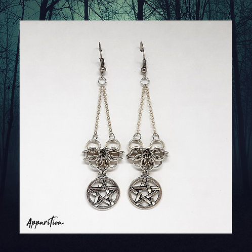 Queen of Celts Chainmaille Earrings