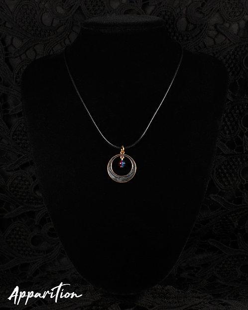 Black Wishing Moon Necklace