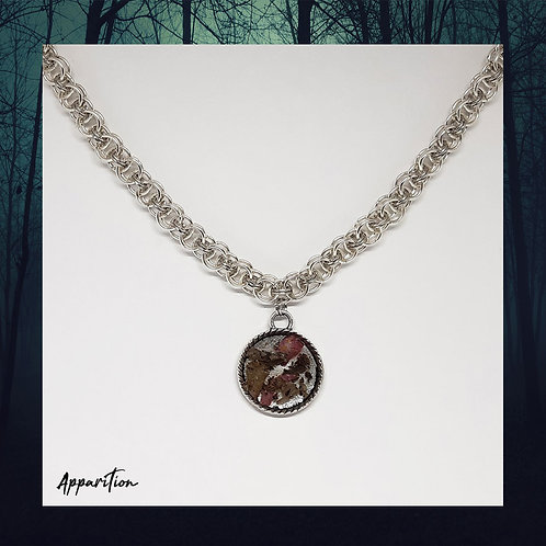 Sage & Rose Petal Chainmaille Necklace