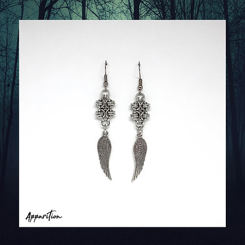 Jueru Wing Chainmaille Earrings