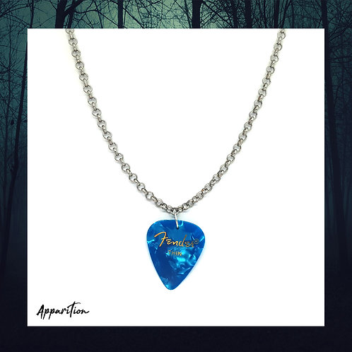 The Blue Bard Plectrum Silver Necklace