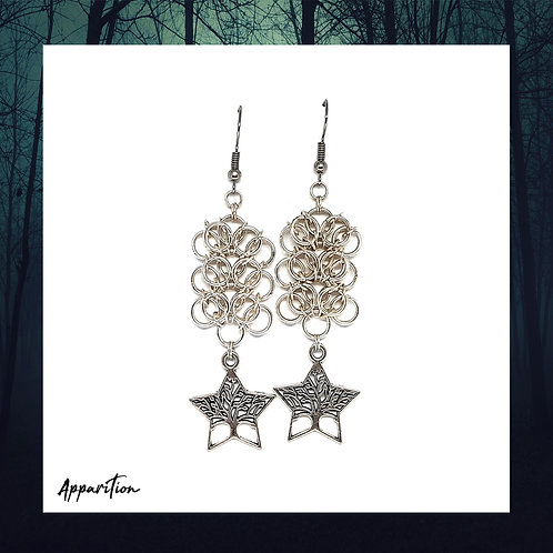 Tree of the Celts Chainmaille Earrings