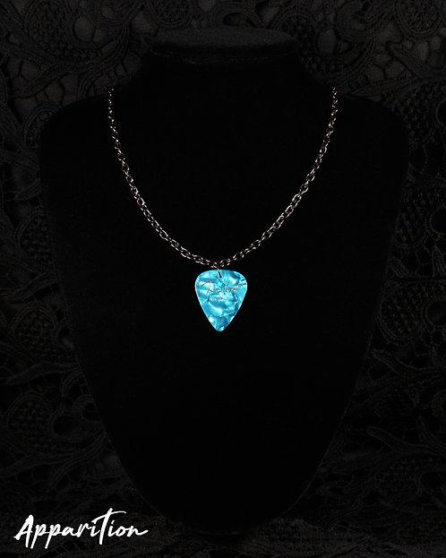 The Blue Bard Plectrum Black Necklace
