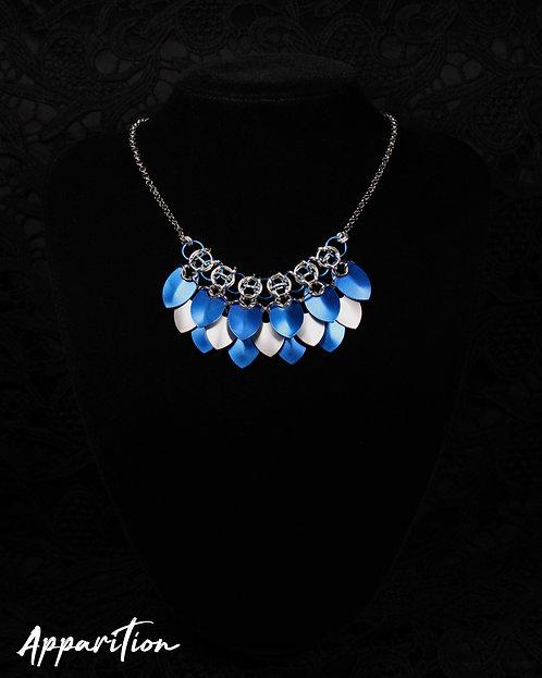 Brigid Blue Scalemaille Necklace