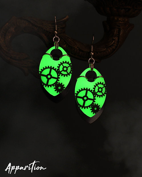 GlowPunk Scalemaille Earrings