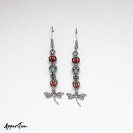 Beaded Dragonfly Chainmaille Earrings
