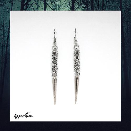 Dark Maiden Chainmaille Earrings