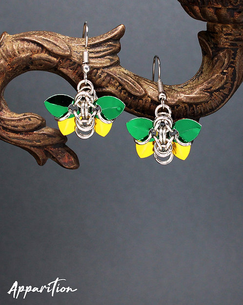 Brimstone Scalemaille Earrings