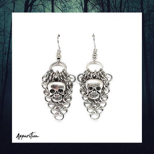 Dead On Arrival Chainmaille Earrings