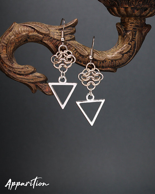 Triangle Cluster Earrings
