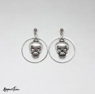Shrunken Head Chainmaille Earrings
