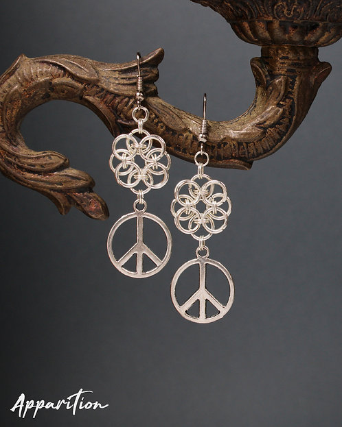 Eternal Peace Chainmaille Earrings