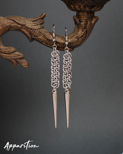 Excavator Chainmaille Earrings