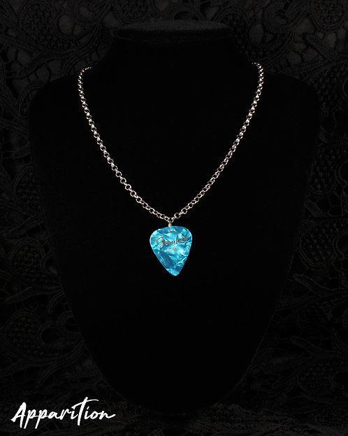 The Blue Bard Plectrum Silver Necklace