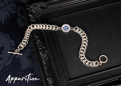 Diamante Evil Eye Chainmaille Bracelet