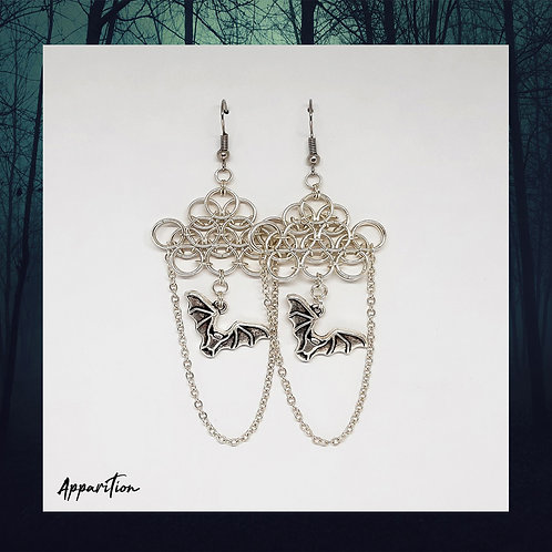 Cathedral Bats Chainmaille Earrings