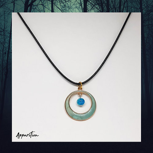 Blue Wishing Moon Necklace