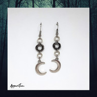 Sickle Moon Chainmaille Earrings