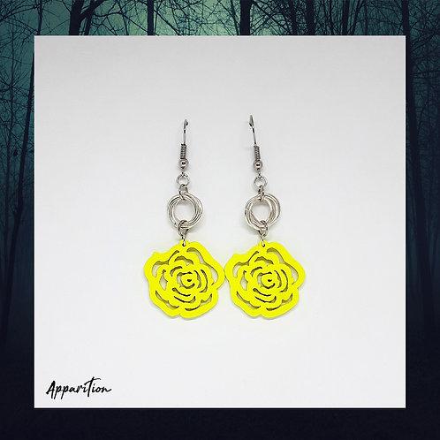 Lumo Yellow Rose & Mobius Earrings