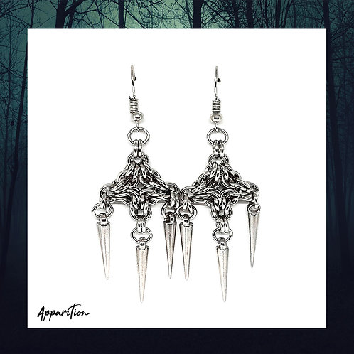 Lady Macabre Chainmaille Earrings