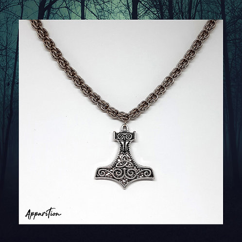 God Of Thunder Chainmaille Necklace