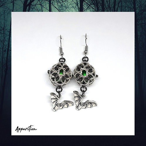 Nycteris Chainmaille Earrings