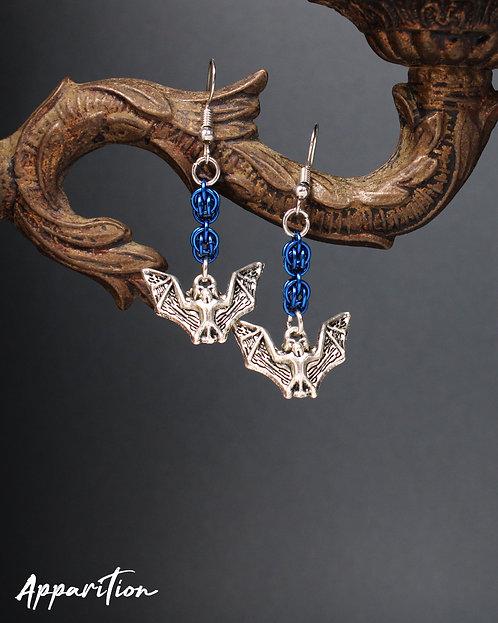 Fruit Bat Chainmaille Earrings