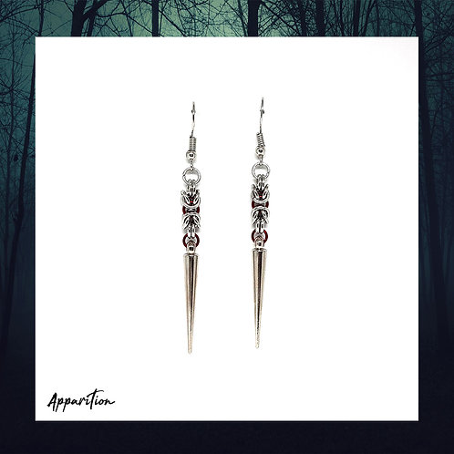 Blood Maiden Chainmaille Earrings