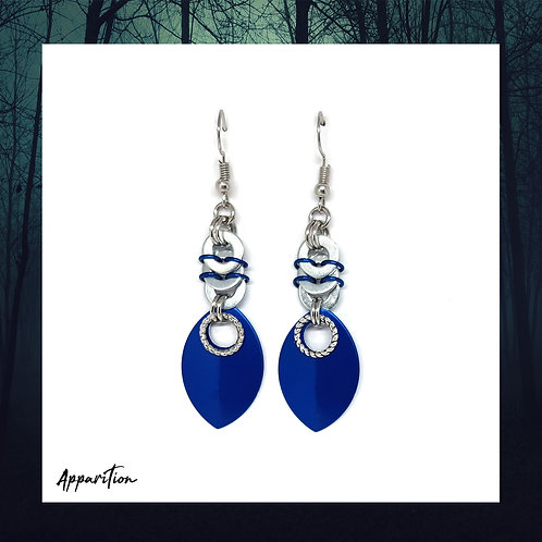 Blue Draconis Scalemaille Earrings