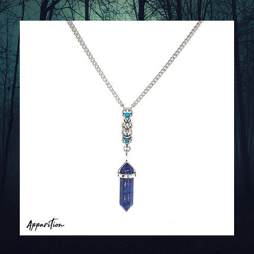Lapis Lazuli Compass Chainmaille Necklace
