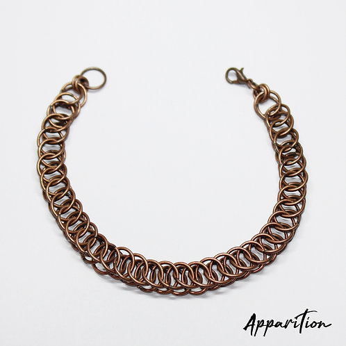 Copper-Tone Chainmaille Bracelet