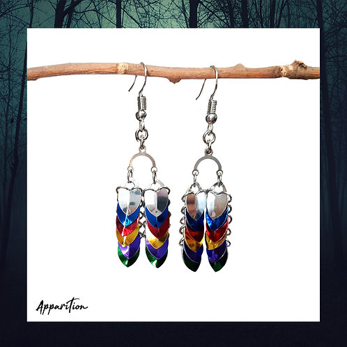 Prismatic Scalemaille Earrings