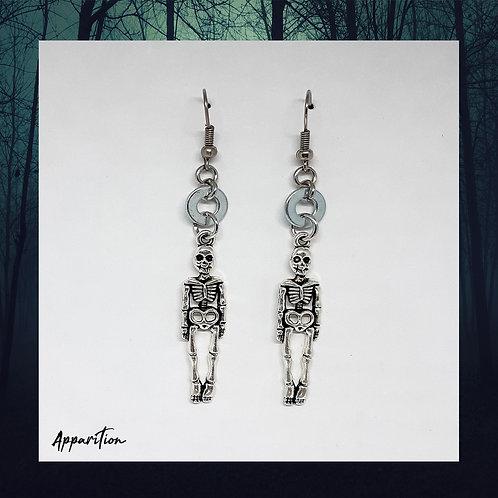Skeletal Earrings