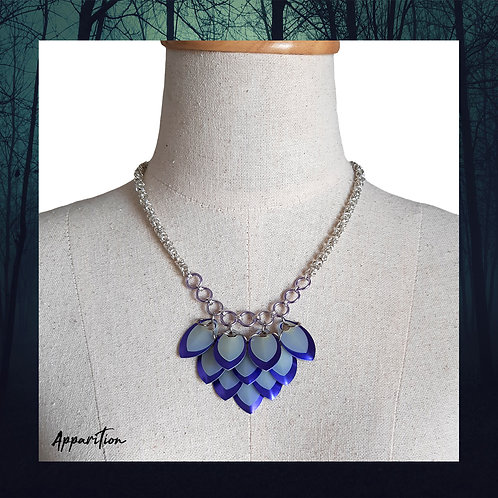 Visions of Purple Scalemaille Necklace