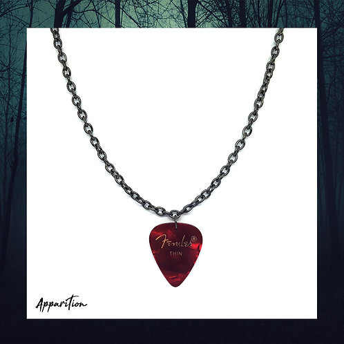 The Red Bard Plectrum Black Necklace