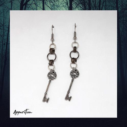 Antique Key Earrings