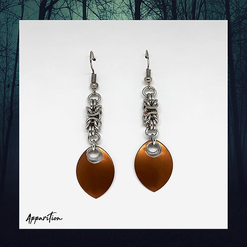 The Warrior Scalemaille Earrings