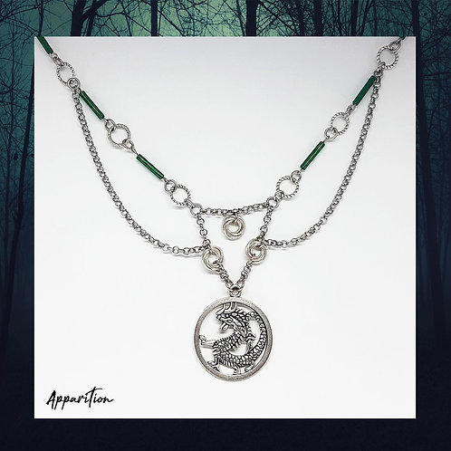 The Emerald Dragon Chainmaille Necklace