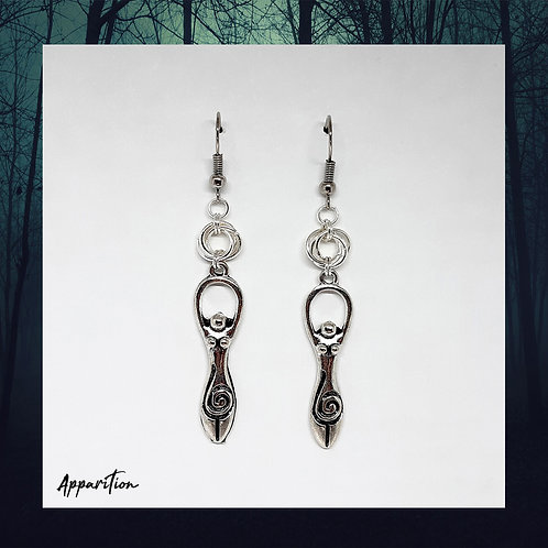 Cycle of the Goddess Chainmaille Earrings