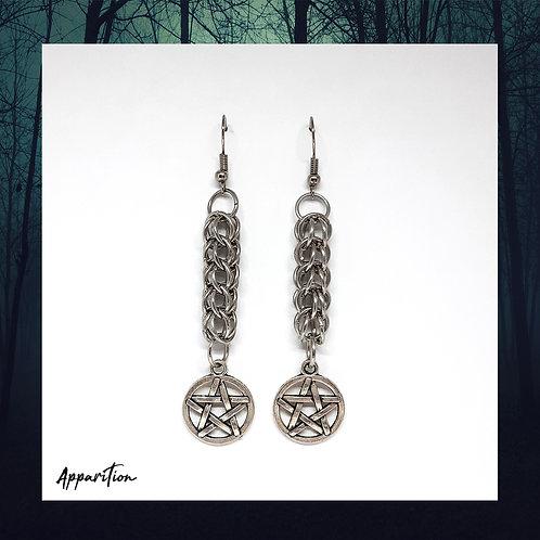 Takara Pentacle Chainmaille Earrings