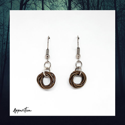 Bronze Mobius Chainmaille Earrings